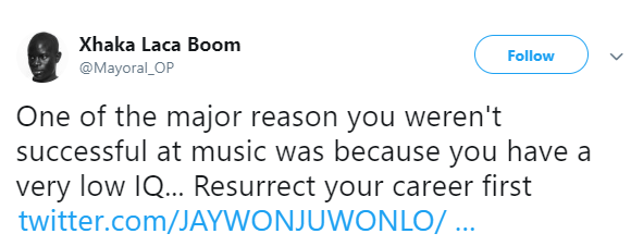 Jaywon and follower drag the heck out of each other after the singer declared support for Beverly Osu