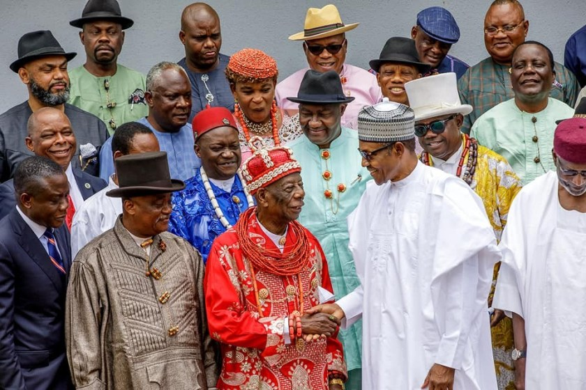The issue of unstable electricity in Ariaria market would soon be a thing of the past -? President Buhari assures S/East monarchs
