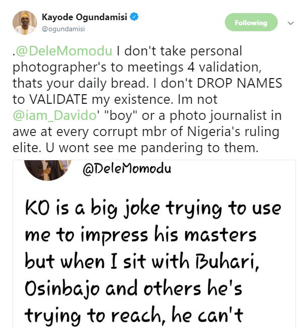 Dele Momodu and Kayode Ogundamisi slam each other on Twitter
