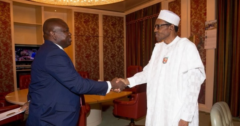 President Buhari, Ambode meet behind closed door in Aso Rock
