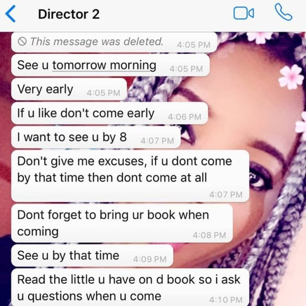Actress Stella Clifford calls out married movie director demanding sex for work, shares screenshots of their chat