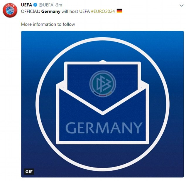 Germany wins right to host Euro 2024 European Championship