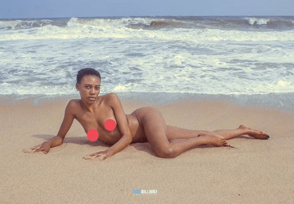 Nigerian porn star, Savage Trap Queen, shares completely nude photos on IG (+18)