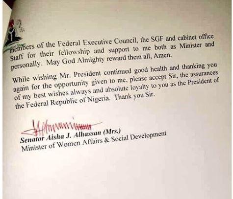 'Mama Taraba' resigns as women affairsminister