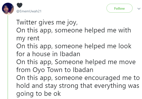 Nigerian lady who was once suicidal narrates how Nigerians on twitter impacted her life and helped her come out of depression