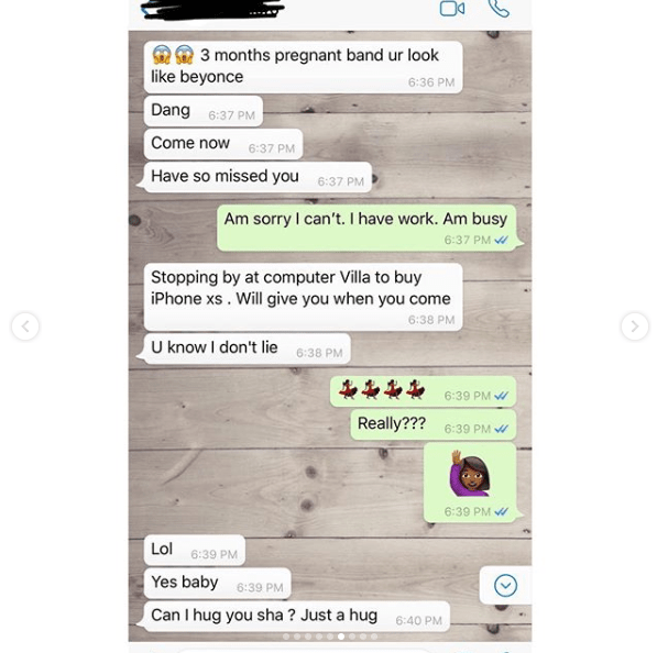 Husband shares shocking chat conversation of his pregnant wife who was planning to go