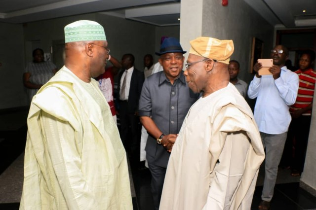 Photos: Atiku Abubakar and Obasanjo meet in Abeokuta