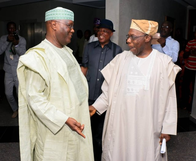 Photos: Atiku Abubakar and Obasanjo meet in Abeokuta