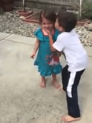 Little boy goes viral after a video of him encouraging his sister to push beyond her limits was shared online (video)