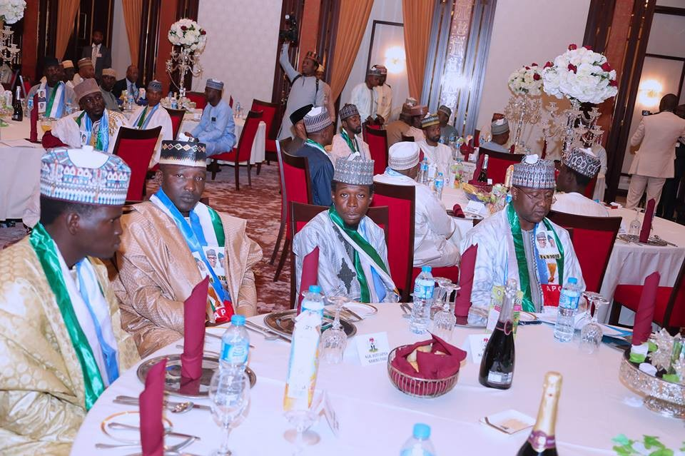 Photos: President Buhari hosts Kannywood actors
