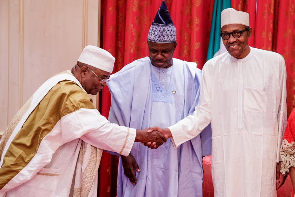 Photos:?President Buhari receives?Governor and royal fathers from Ogun State at the State House?