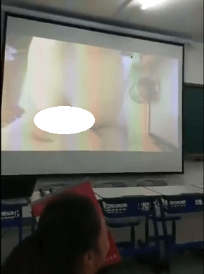 Oh my! teacher accidentally plays his sex tape for his high school students while trying do a slide presentation (video)