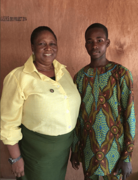 Principal dresses in school uniform as she switches role with student who won competition to become principal for one day (photos)