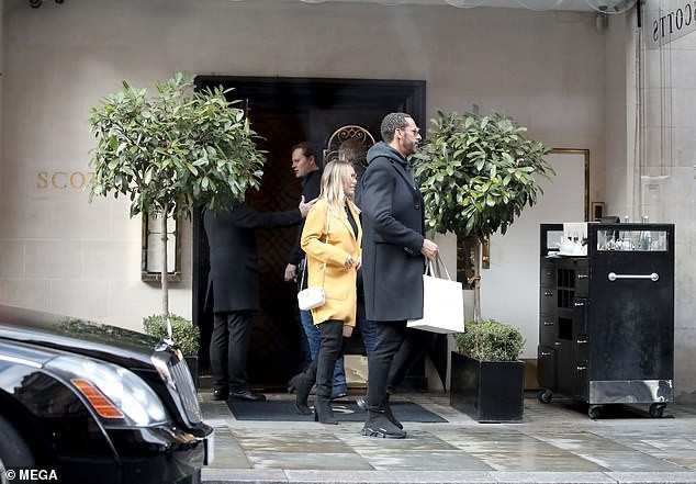 Newly engaged couple Rio Ferdinand and Kate Wright are seen for the first time in London after Abu Dhabi proposal (Photos)