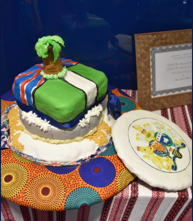 See anything wrong with this cake made to welcome Prince Charles and The Duchess of Cornwall to Nigeria?