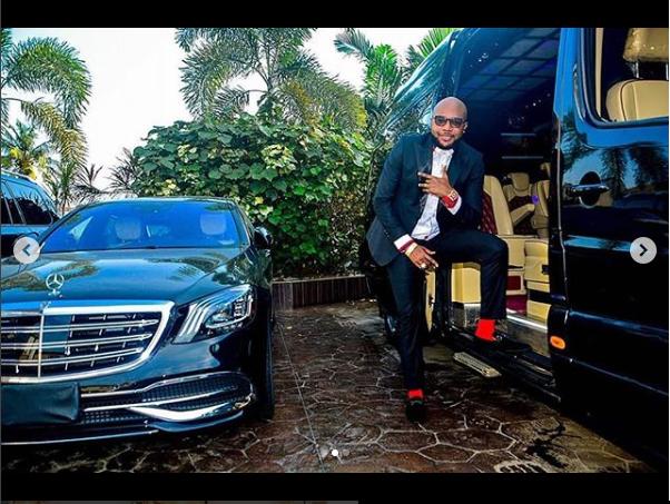 ?E-money shows off his car garage at his mansion (Photos)