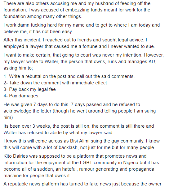 Bisi Alimi to sue Walter Ude, founder of Nigerian gay site, after he accused him of being a paedophile who involves children in gay porn