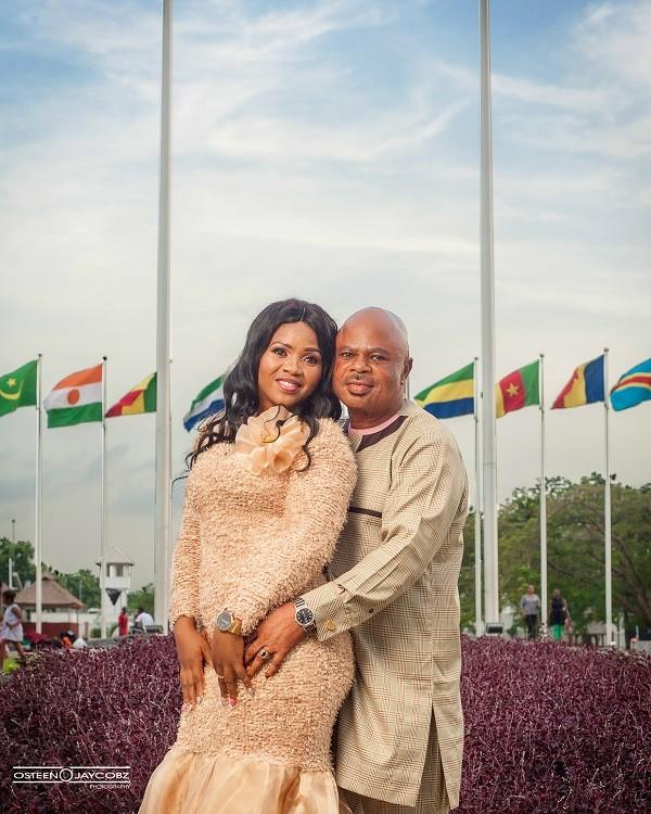Nigerian man stares at his partner