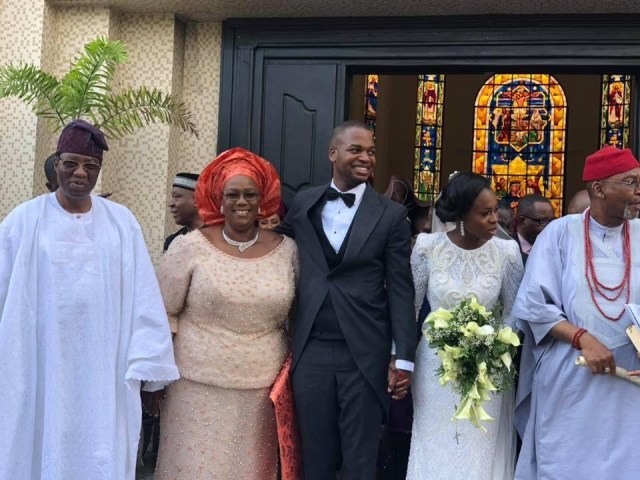 Photos: Obasanjo, Goodluck and Patience Jonathan attend wedding of Timi Alaibe
