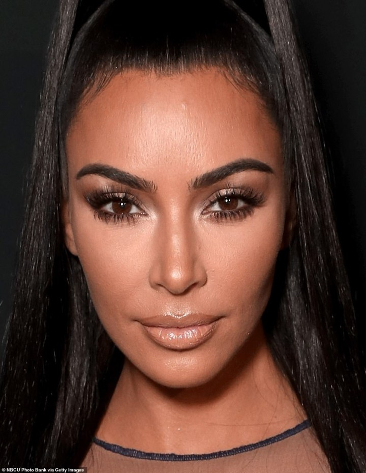 5be94fe752713 - Kim Kardashian Shows Off Curves In A See-Through Dress At People's Choice Awards (Photos)