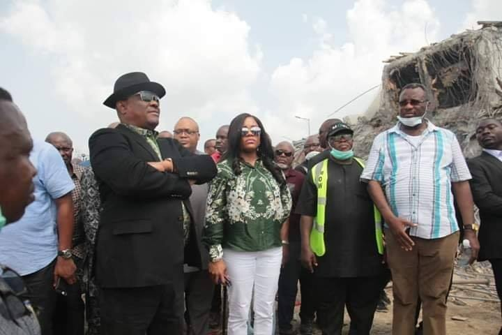Seven storey building that collapsed was not meant to be built in the area it was being erected-  Gov Wike says, vows to go after the owner and govt officials that approved it