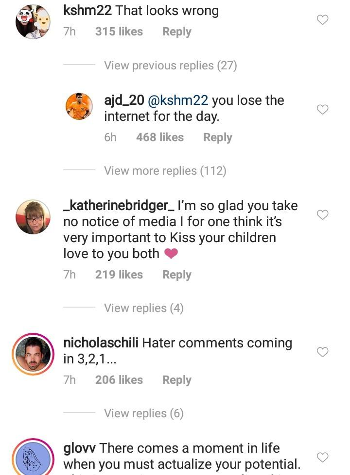 Internet users reacted as David Beckham and daughter share a kiss[Photos]