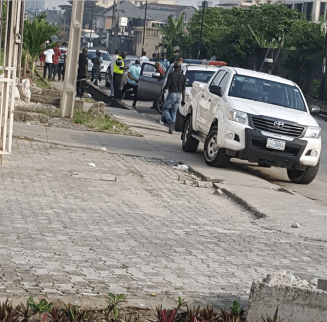 LIB Exclusive: Man found cut open by suspected ritualists and abandoned in his car in Lekki Pase 1