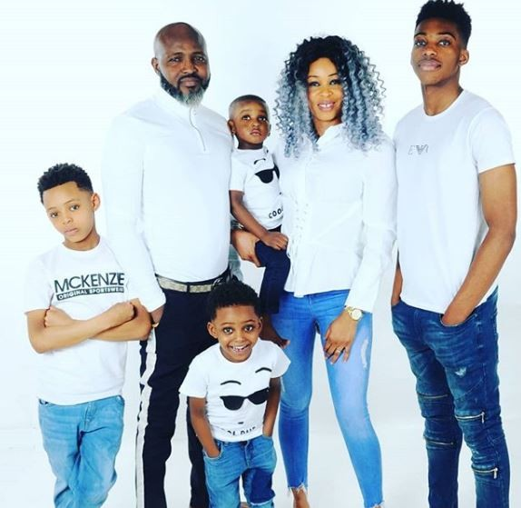 Rumours night club boss,?Dotun Omotoye shares rare family photos with his wife and four sons