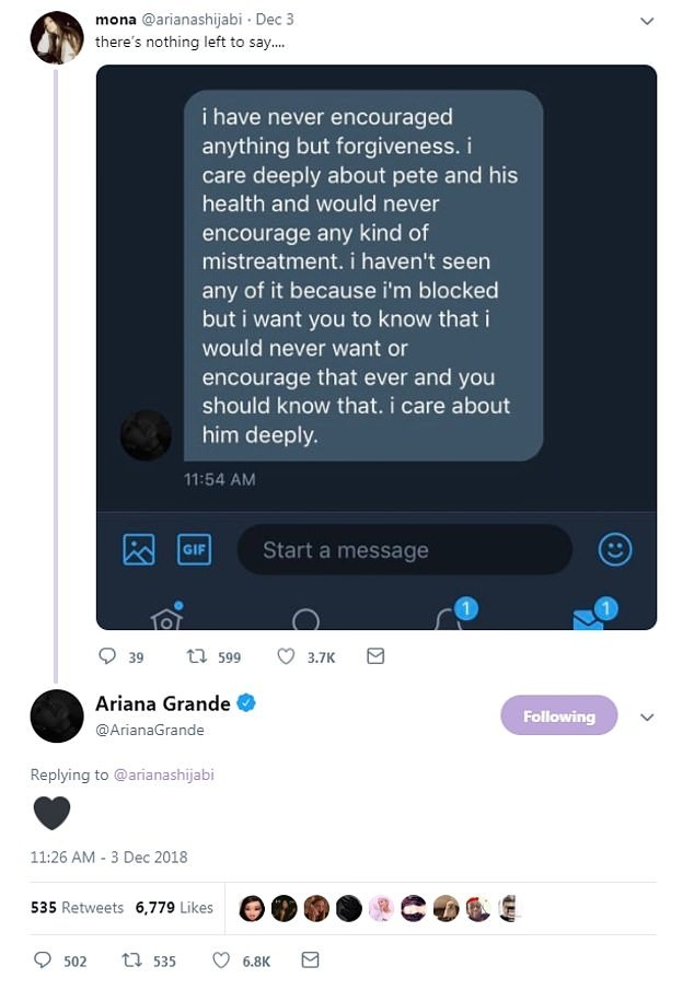 Pete Davidson has blocked his ex-Ariana Grande on social media in an effort to