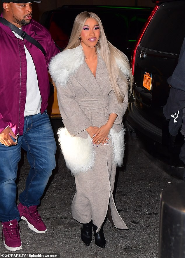 Cardi B steps out without her wedding ring days after announcing split from husband Offset (Photos)