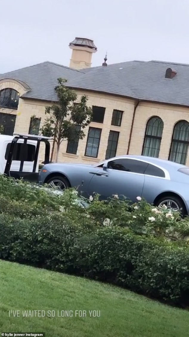 Kylie Jenner shows off her impressive garage as she buys another Rolls Royce Wraith (Photos)