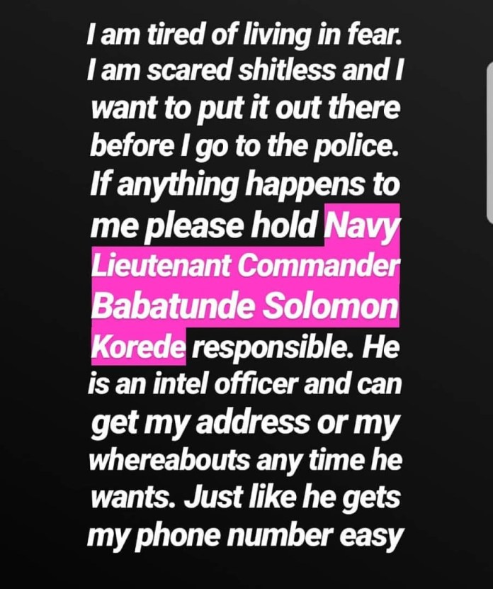 Actress Etinosa raises alarm after receiving series of threat messages from her ex-husband
