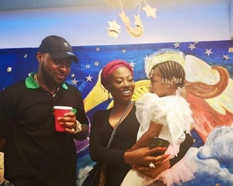 Photos: Davido and Sophia Momodu attend their daughter