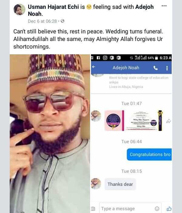 [Photos] Nigerian man dies three weeks to his wedding
