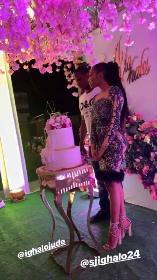 Photos: Footballer Jude Ighalo and wife, Sonia, host friends to their 9th wedding anniversary party