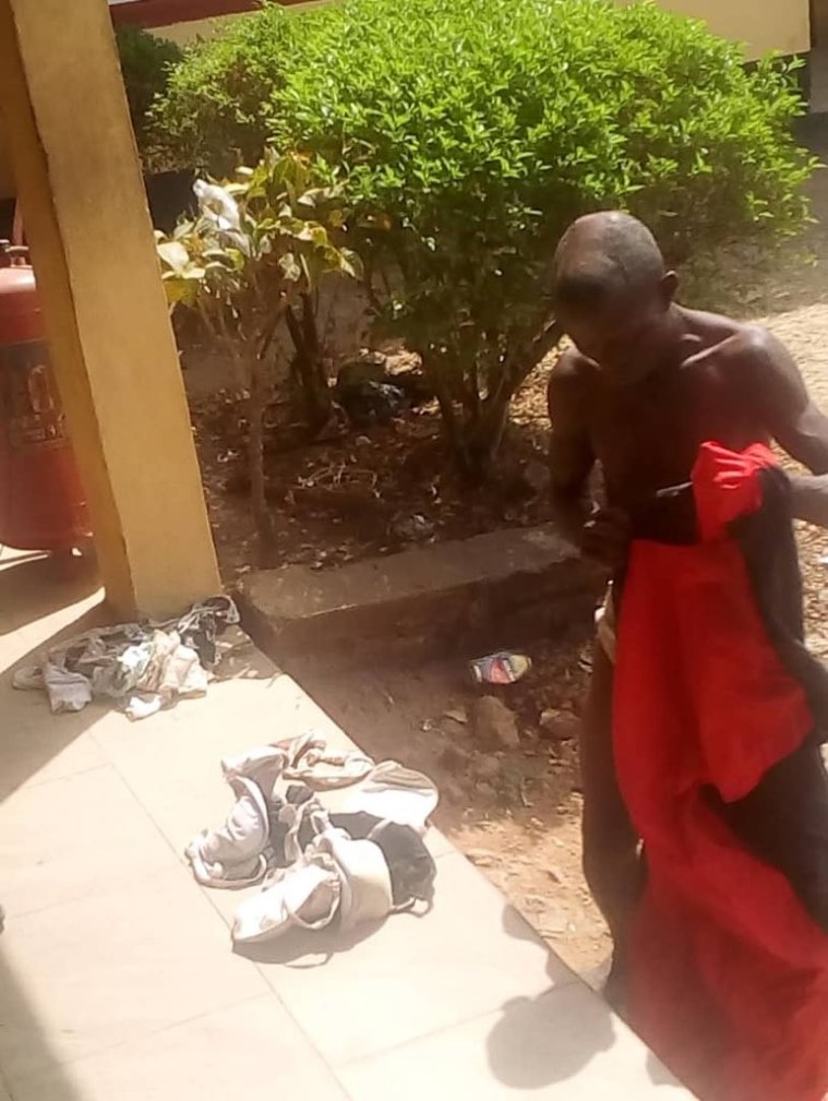 Man apprehended with female pants, bra and soaked sanitary pad in Ondo(photos)