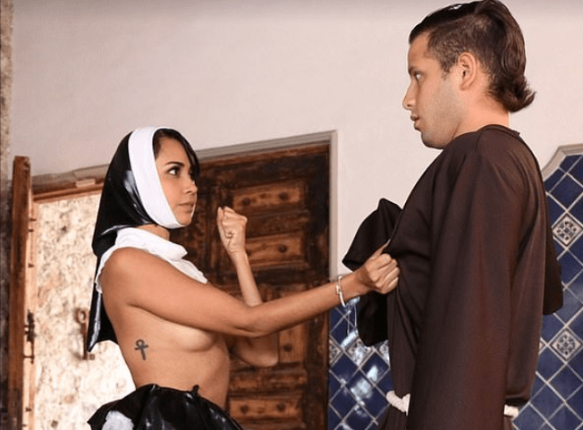 Former nun who quit the convent makes her debut as a porn star
