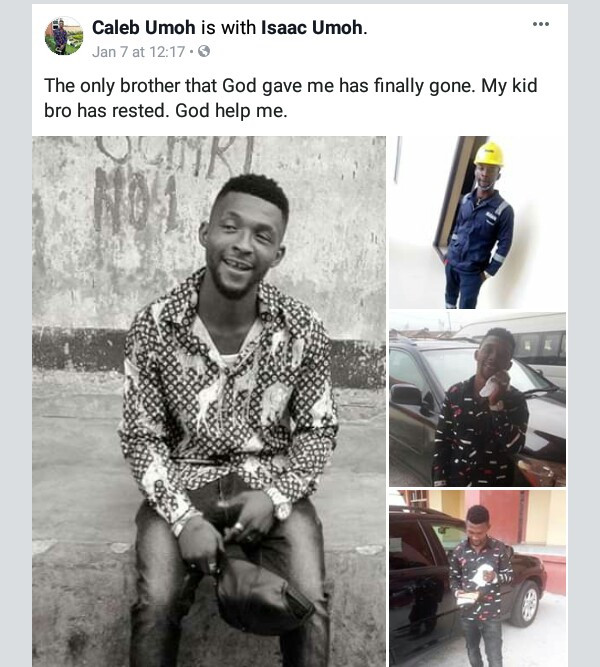 Photos: Young man shot dead by unknown gang in Rivers State