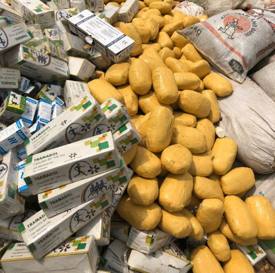 Photos: Lagos Police burns a huge pile of Indian hemp, Tramadol, cocaine, synthetic marijuana, diazepam and others