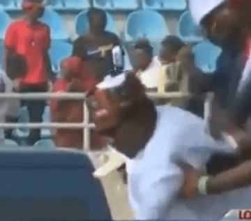 Video: President Buhari slipped and almost fell at the APC presidential rally in Kogi state today