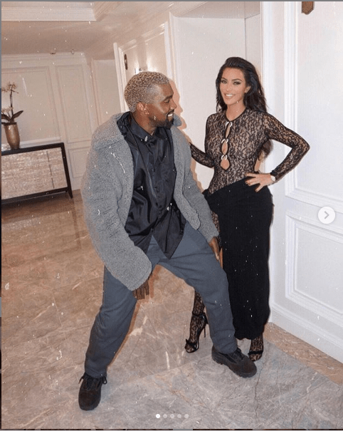 Kim Kardashian and her husband Kanye West goof around in new photos