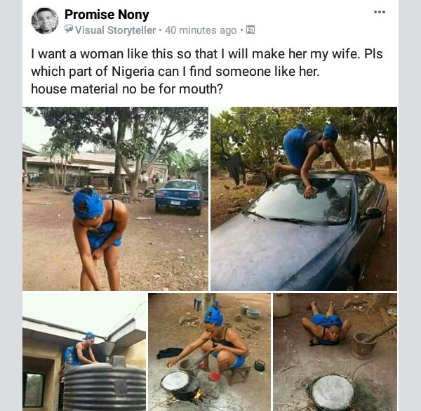 Photos: Nigerian man is searching for this kind of