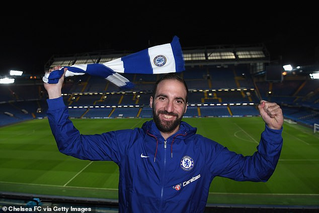 Chelsea confirm Gonzalo Higuain signing after striker joins on loan from Juventus until end of season (Photos)