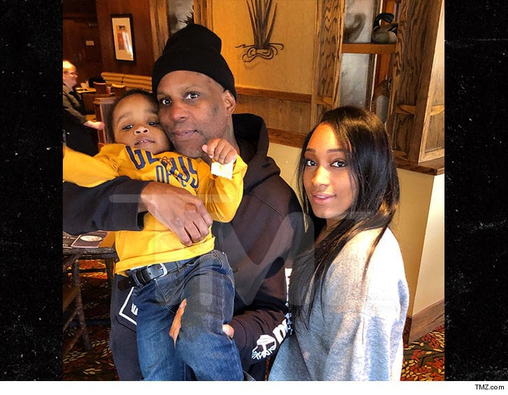 Rapper DMX is pictured with his family after his release from Prison?