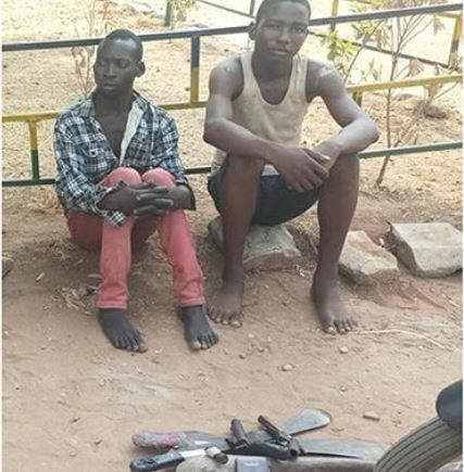 Two teenage boys arrested for robbing and?raping a 50-year-old lady in Benue State (Photo)
