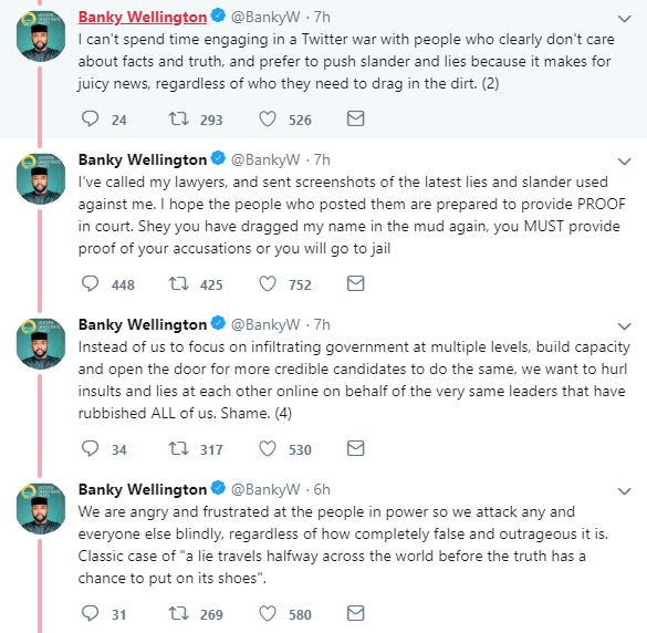 Banky W threatens to sue Miriam Shehu over claims he collected N57million from President Buhari