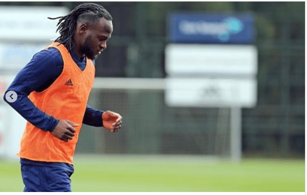 Nigerian striker, Victor Moses takes his first training session with his Fenerbahce teammates (Photos)
