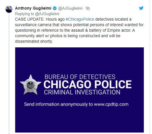 Chicago Police release two photos of potential persons of interest in the Jussie Smollett?hate crime attack