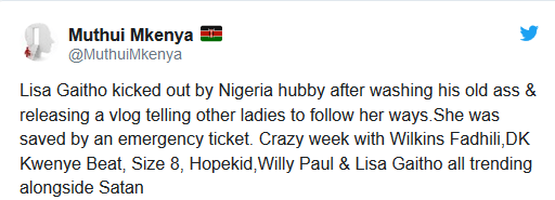 Kenyan designer splits from her Nigerian lover months after advising women to bathe their men and be submissive if they want to keep them