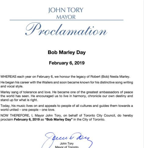 Toronto officially declares February 6th as